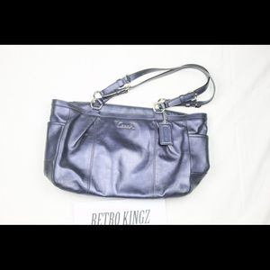 Coach purse blue leather